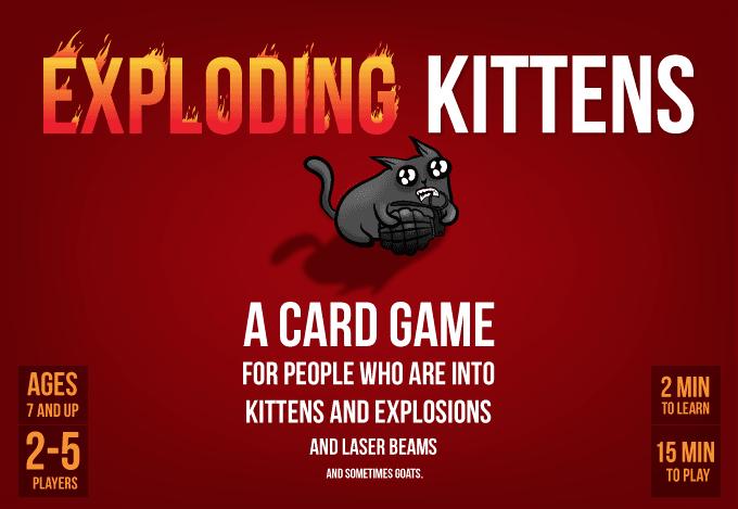 Nýtt spil Exploding kittens